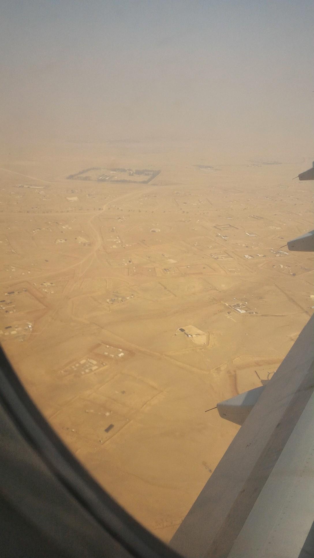 View of area around Riyadh--all desert