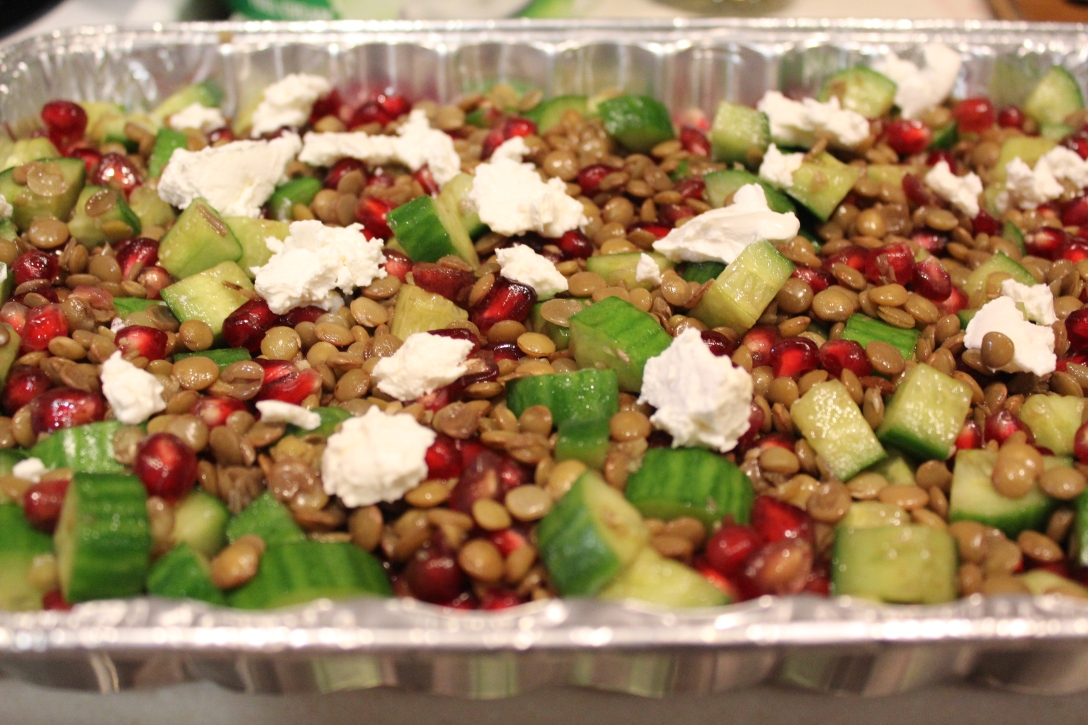 Pomegranate lentil salad